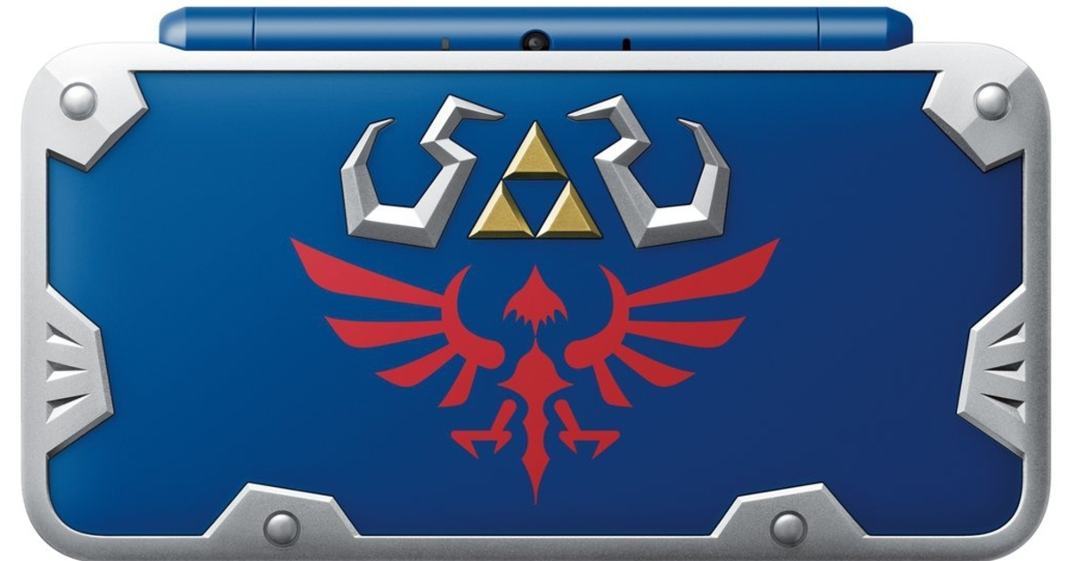 Nintendo is releasing a gorgeous new 2DS XL inspired by Link's Hylian Shield