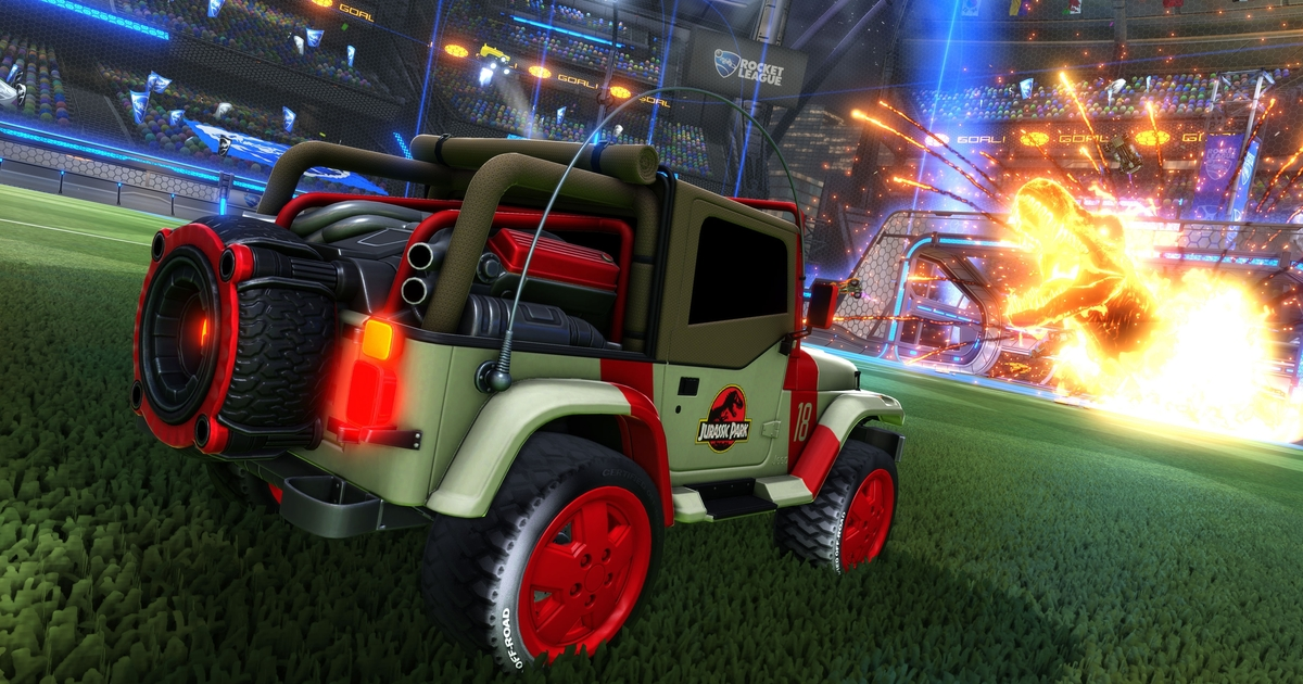 Rocket League is getting a Jurassic-Park-inspired car pack