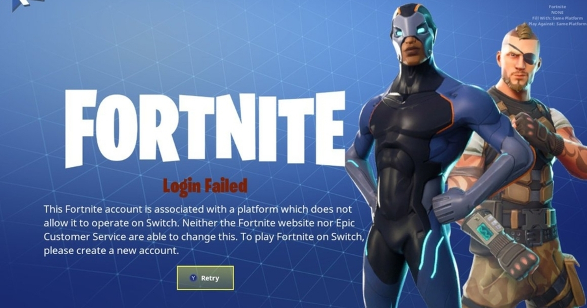 Fortnite blocks you playing on Switch if you've already logged in on PS4