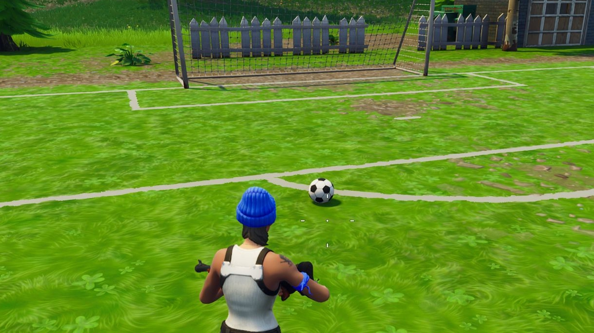 fortnite pitch locations where to score a goal on different pitches eurogamer net - fortnite week 7 football