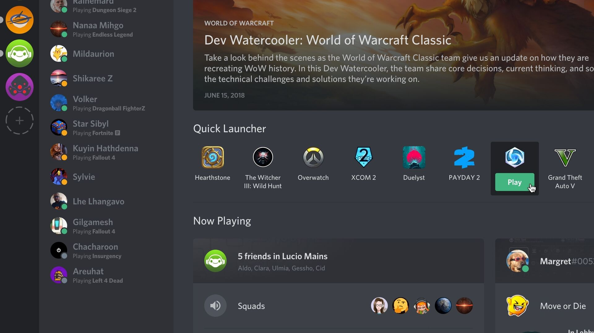 Discord launches a Games tab and it's basically Steam
