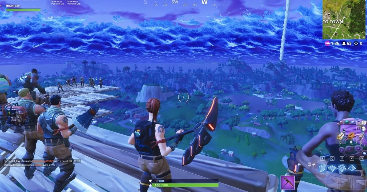 Fortnite player sparks griefing debate after taking out rocket viewing party