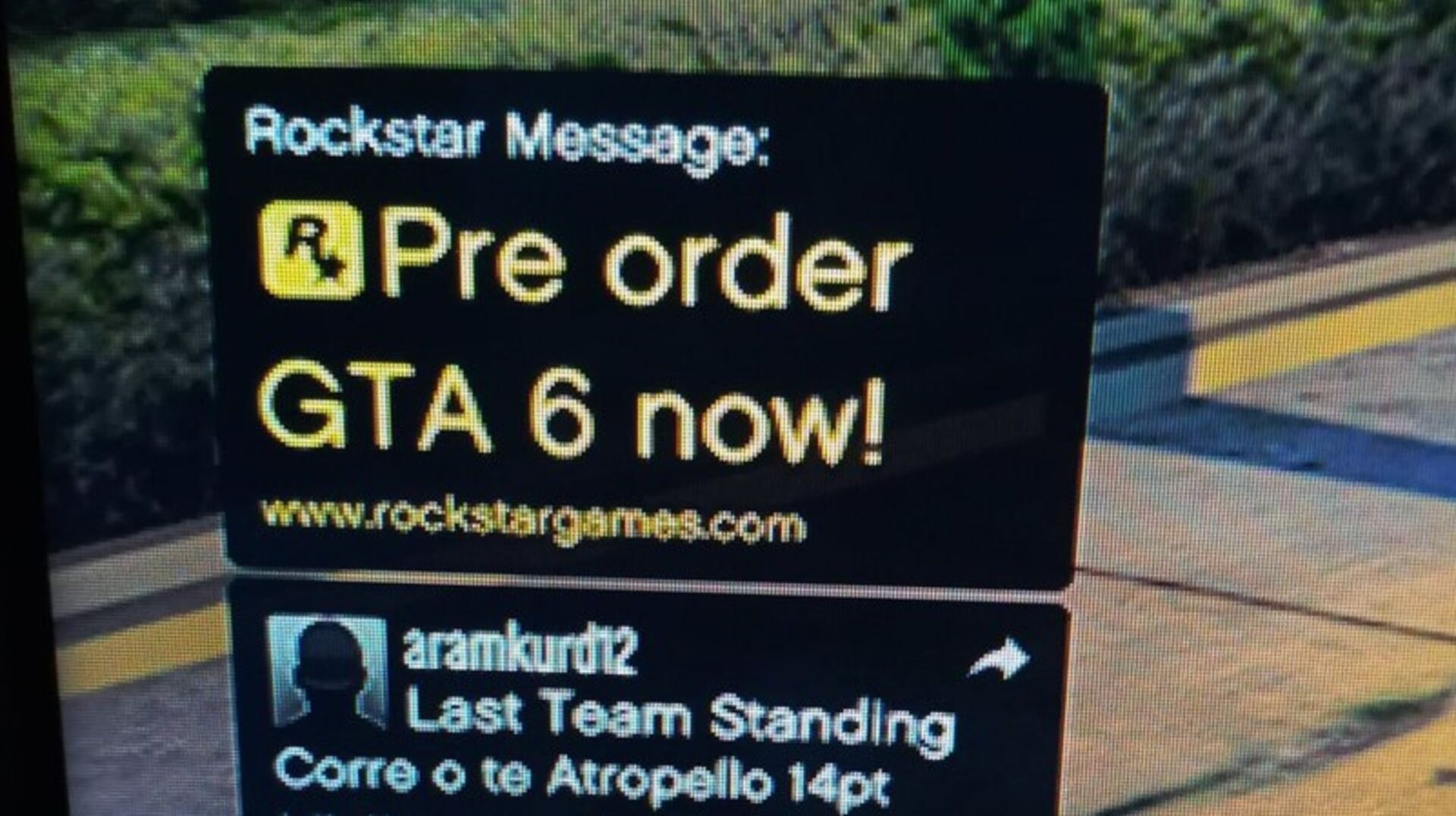 Someone hacked GTA Online to tease a fake GTA6 release date