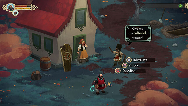 Yaga is an action-RPG with branching narrative options - replayability is a key focus