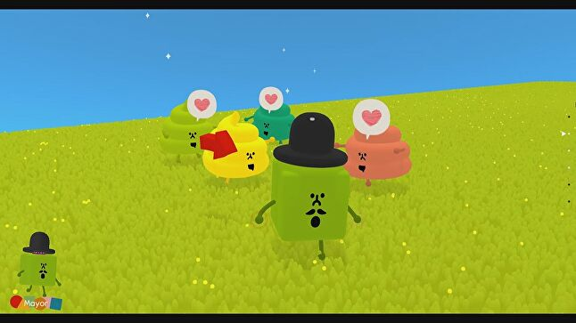 Wattam's Mayor makes friends with all kinds of... stuff.