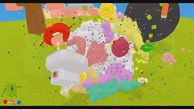 Wattam uses explosions as much as the big AAA blockbusters, but to very different ends