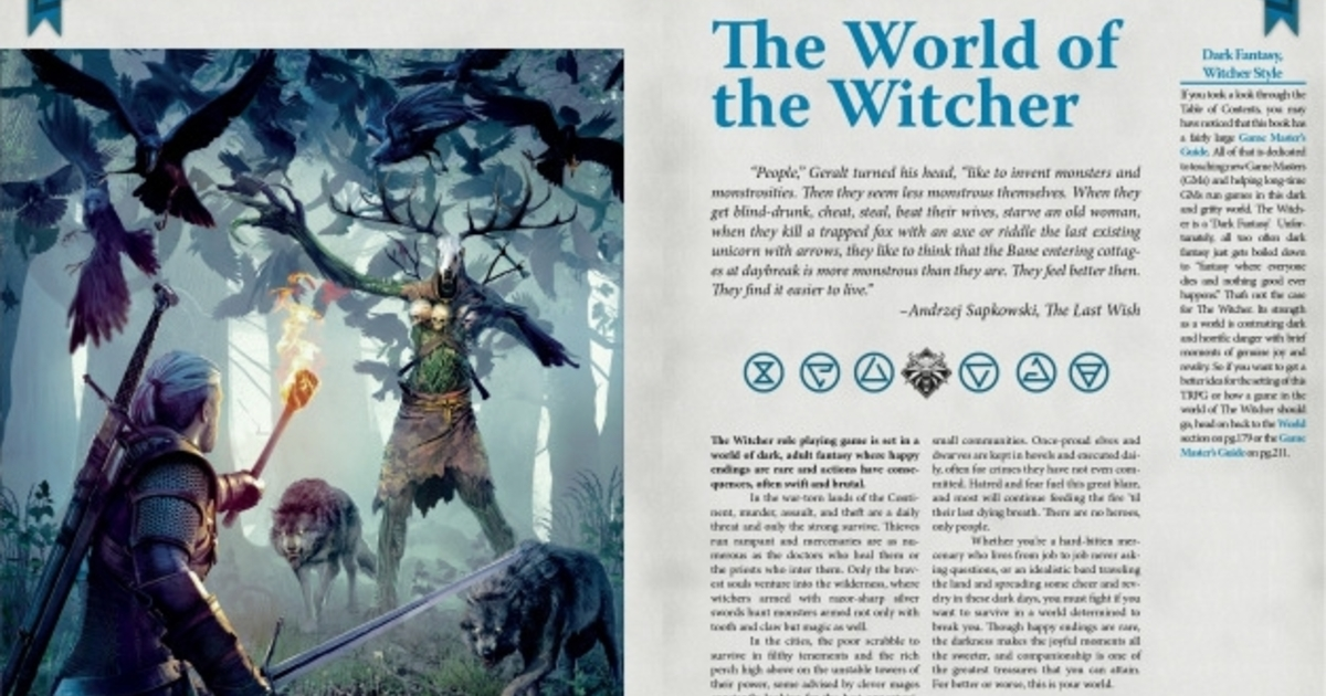 The Witcher Tabletop Roleplaying Game will be released really soon