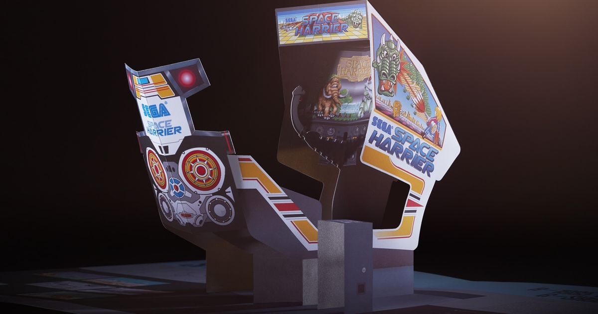 New pop-up book makes Sega arcade cabinets come alive in paper form