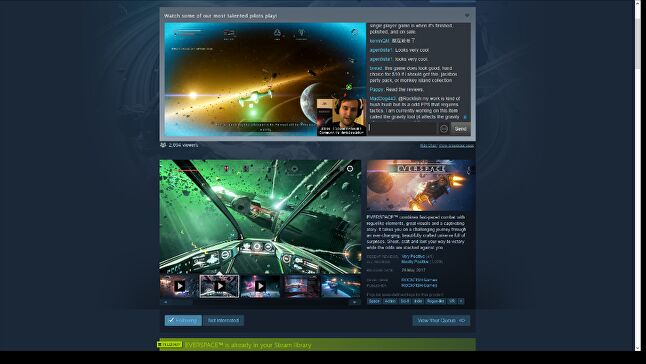 Store page broadcasting was only in beta during the Summer Sale, but its impact on Everspace's performance was immediate and obvious