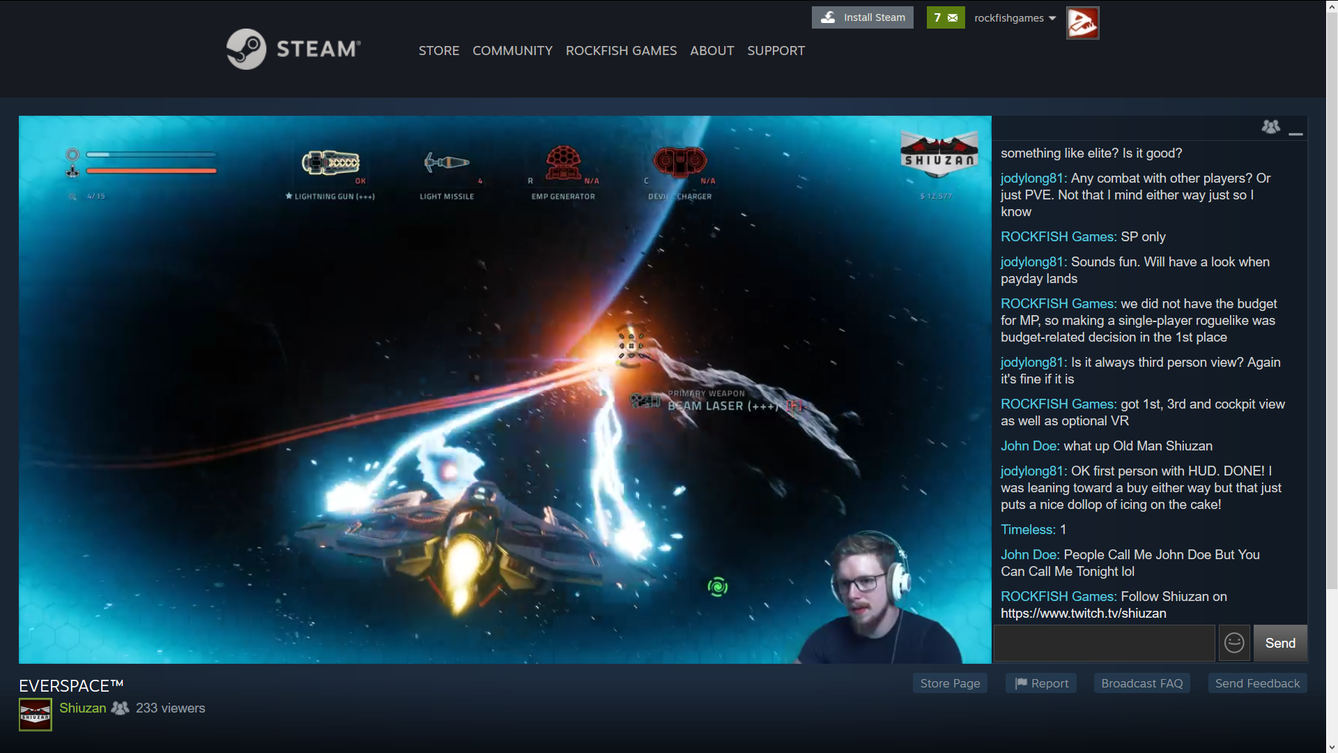 Steam live chat