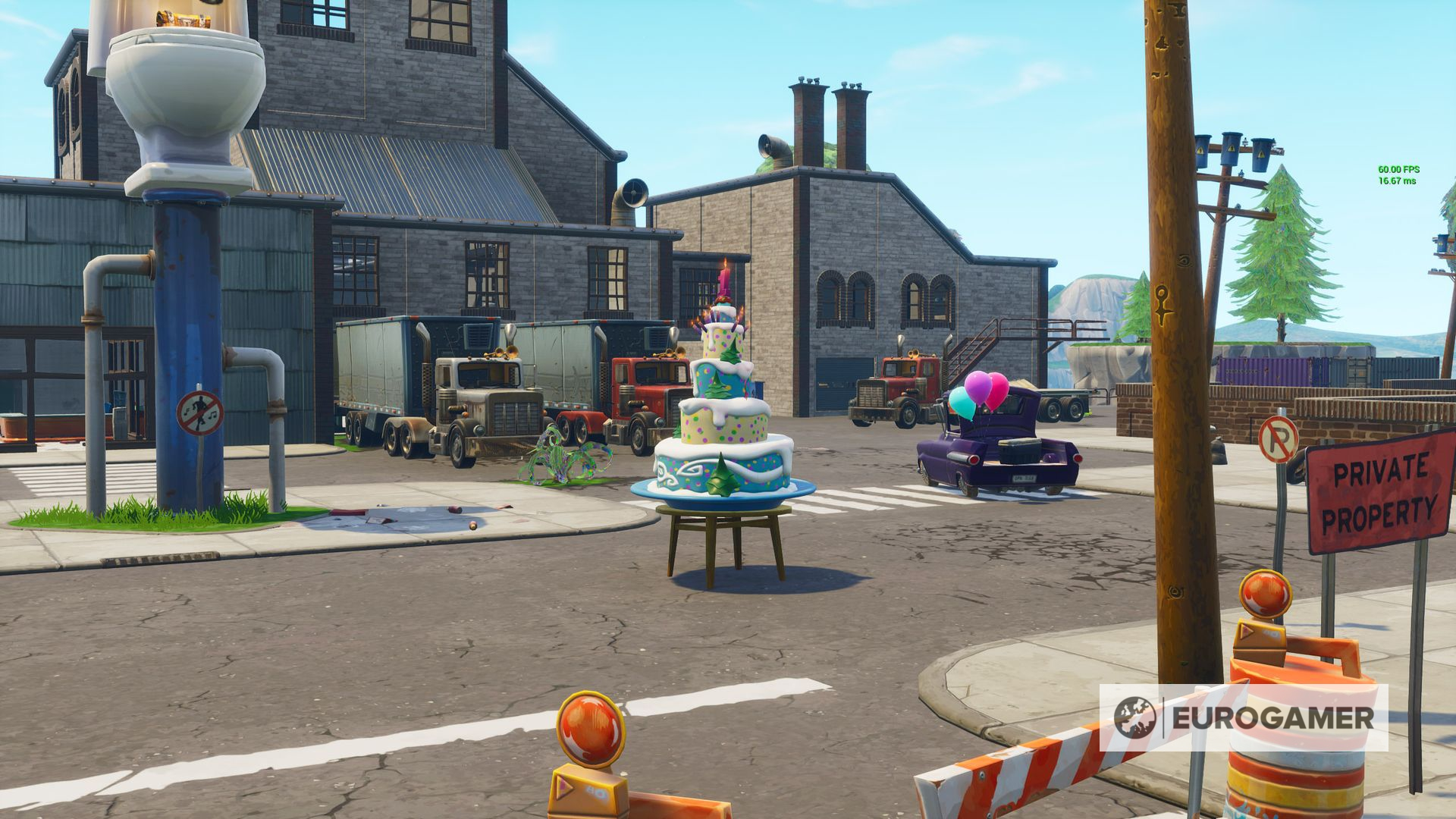 Fortnite Birthday Cake locations: Where to dance in front ...