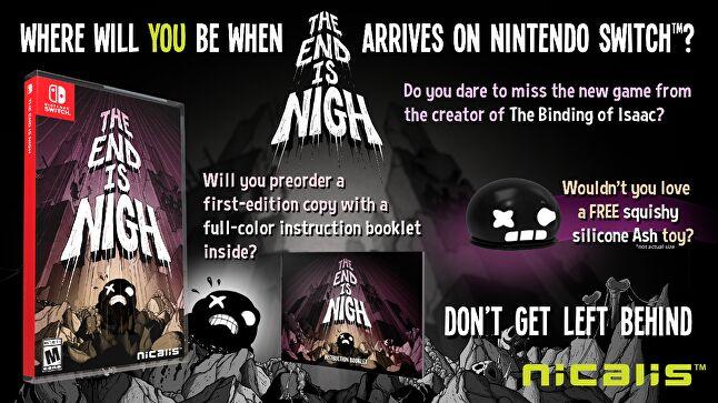 The End is Nigh, like many other recent Nicalis releases, launched with a physical edition that included a few small, bonus items