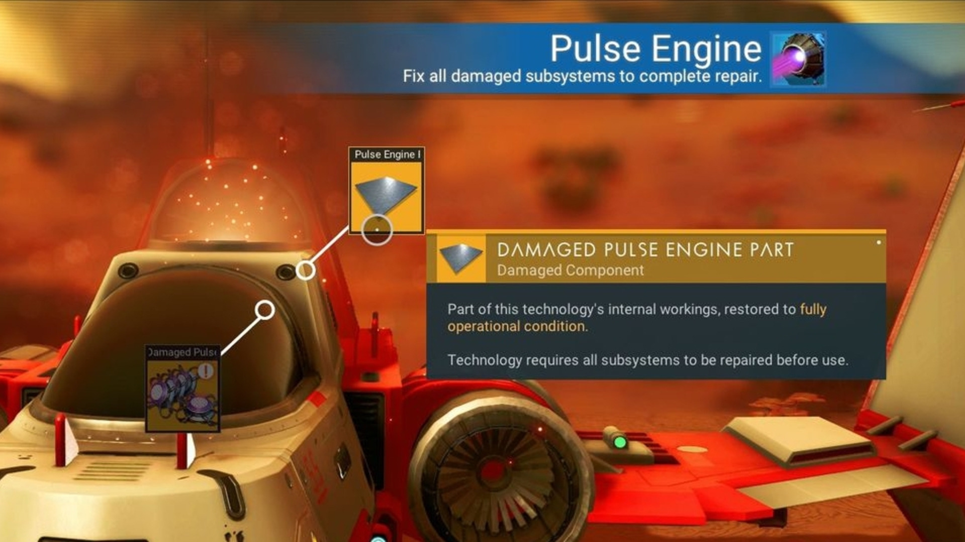 No Man's Sky ship repairs - Hermetic Seal, Pure Ferrite, Navigation Data and Signal Booster explained