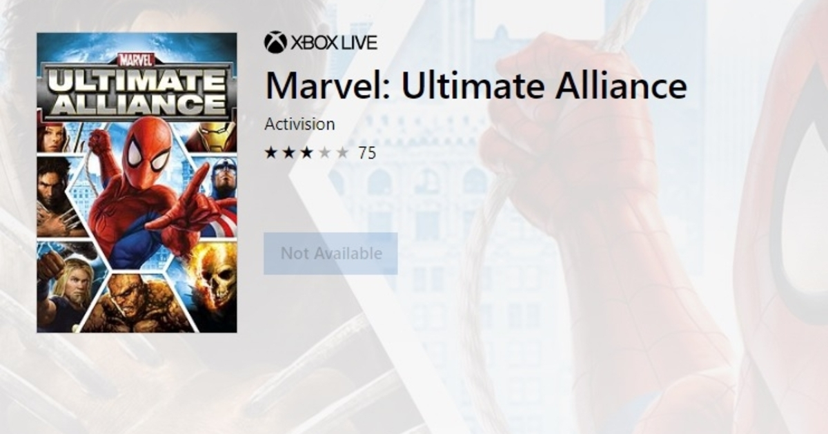 Marvel Ultimate Alliance games snapped out of digital existence