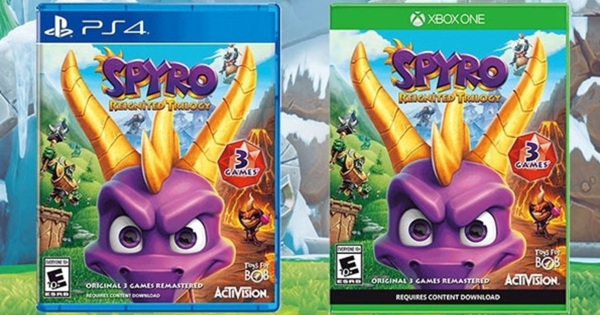 Spyro Reignited Trilogy physical edition requires download for second and third games