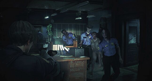 Resident Evil 2 is done in the style of 2005's Resident Evil 4, rather than the original