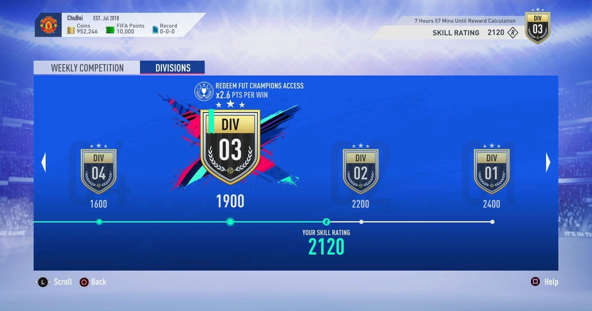 FIFA 19 Ultimate Team has a new mode called Division Rivals