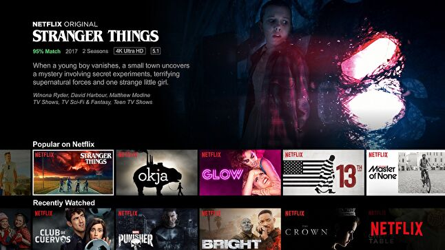 This Netflix PR image exaggerates the emphasis the service gives to its own programming, but only a little.