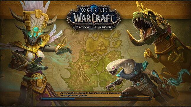 The new loading screen for the troll home of Zandalar in Battle for Azeroth