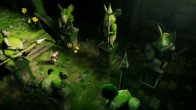 Polyarc's Moss uses VR's ability to make a player feel they are in the scene to forge an emotional connection between the player as themselves, and the game's main character, Quill