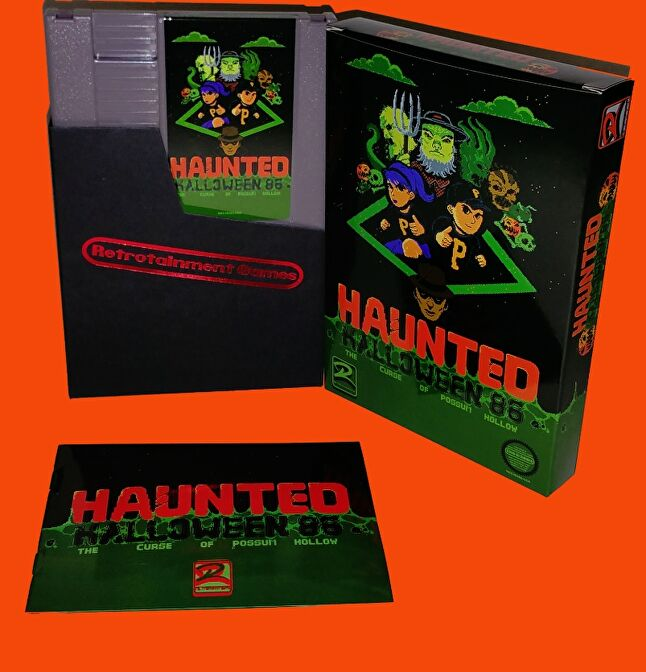 The Haunted: Halloween '86 packaging is just as retro as the game itself