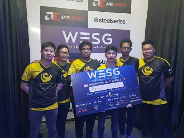 Qualifiers for WESG 2018 are already underway. Here, Recca Esports celebrates its win in the Indonesia qualifier