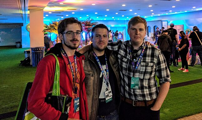 From left: Will, Ray, and Preston Weiler at PAX Dev