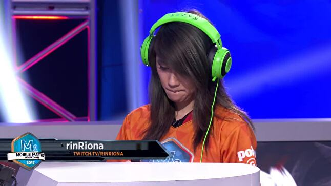 RinRiona was the only woman to compete in Summoners War at Amazon's June 2017 Mobile Masters tournament.