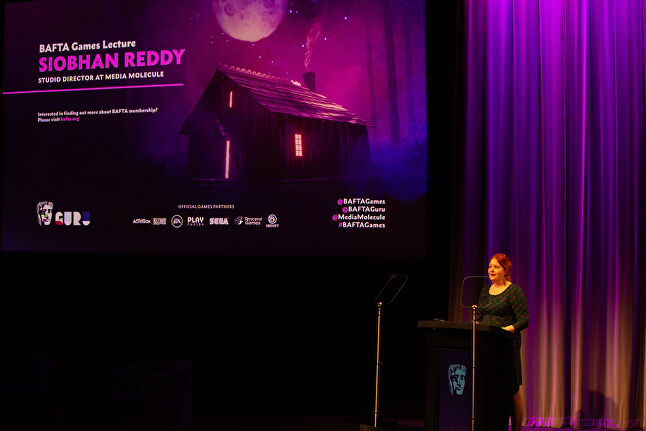 Reddy was the speaker for this year's BAFTA Games Lecture, which was held in London last night