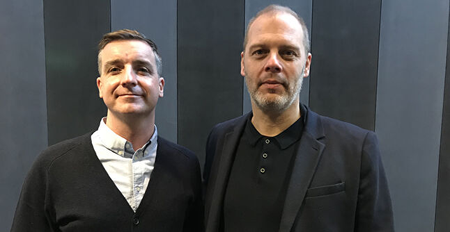 InGAME project director Sean Taylor (left) and Abertay professor Gregor White (right)