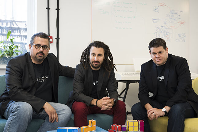 Tripledot co-founders from left-to-right: Akin Babayigit, Eyal Chameides, and Lior Shiff