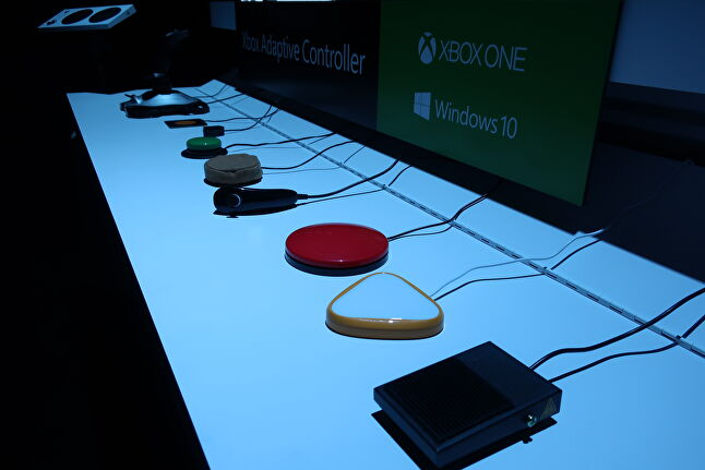Just a smattering of the numerous peripherals that can connect to the Xbox Adaptive Controller and be mapped to any buttons - organizations such as RAM Mounts and Quadstick have partnered with Microsoft to develop even more