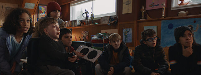 Owen, his friends and family, as featured in the Xbox Christmas ad