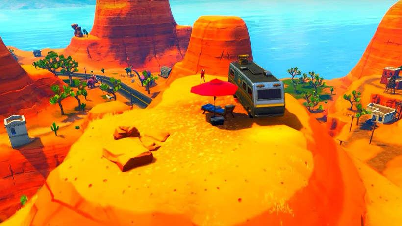 2018 Expedition Release Date >> Fortnite: Search between an Oasis, Rock Archway and Dinosaurs (Battle Star Location)   Metabomb