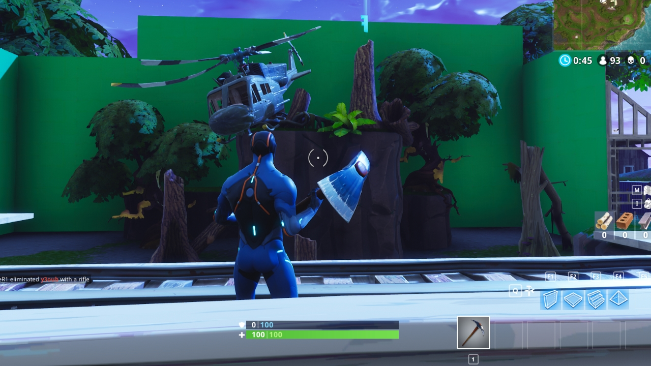 moisty mire s now received a complete overhaul and is modelled after a movie set there are a number of green screens dotted around the area - fortnite banner background no text