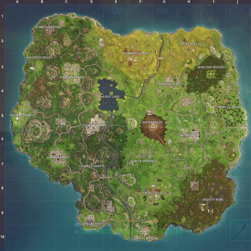 Fortnite Battle Royale Map Update Guide Dusty Divot
