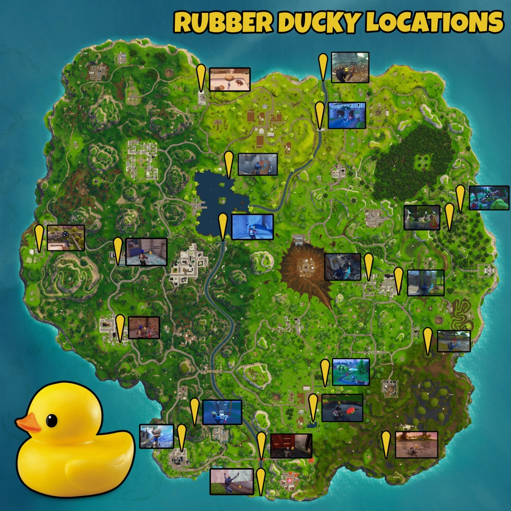 Fortnite All Rubber Duckies Locations Metabomb