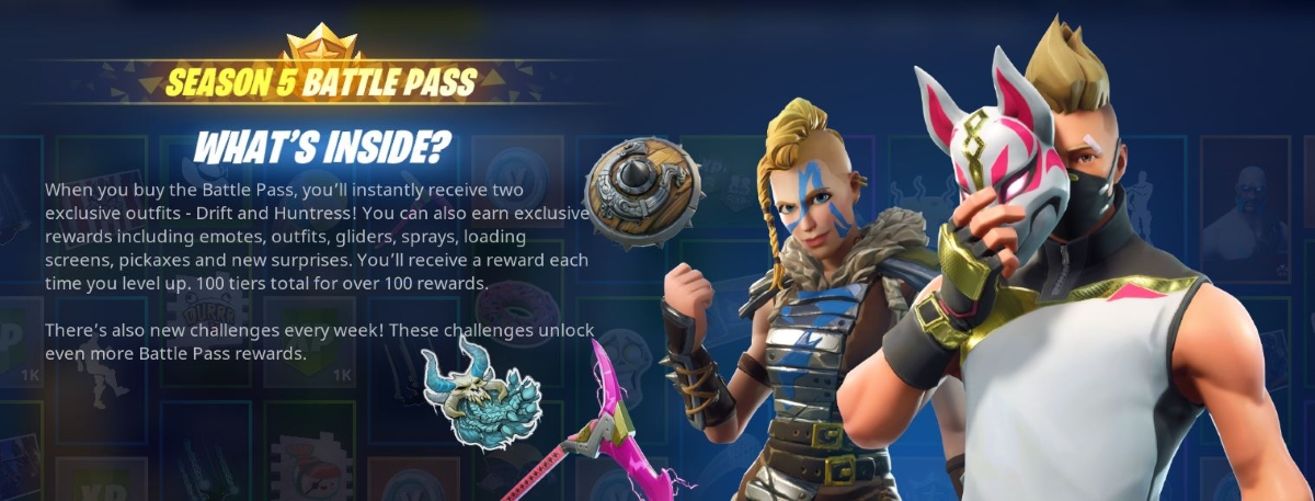 Fortnite Season 5 Guide Battle Pass Rewards Challenges And Map