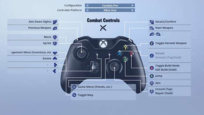 Fortnite Battle Royale Controls For Pc Ps4 And Xbox One