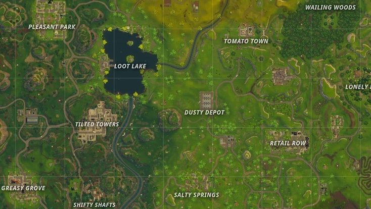 Fortnite Battle Royale Map Locations New Desert Paradise Palms