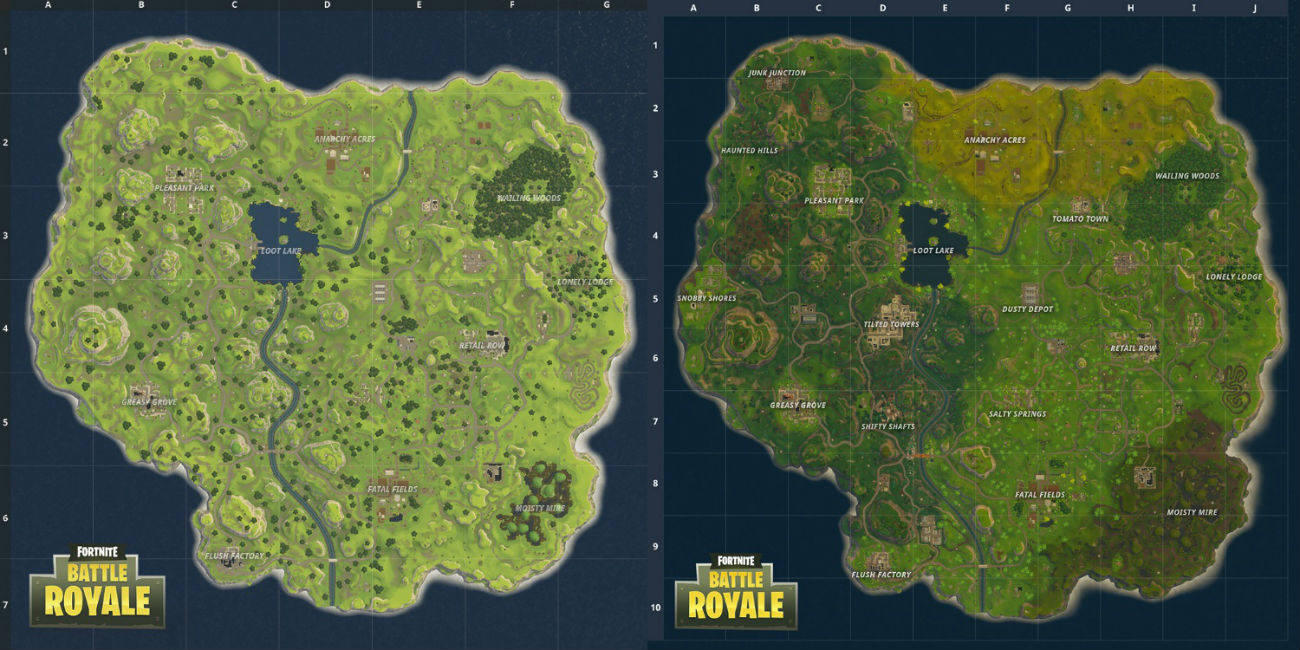 Fortnite Chapter 2 Map Named Locations And Landmarks Metabomb