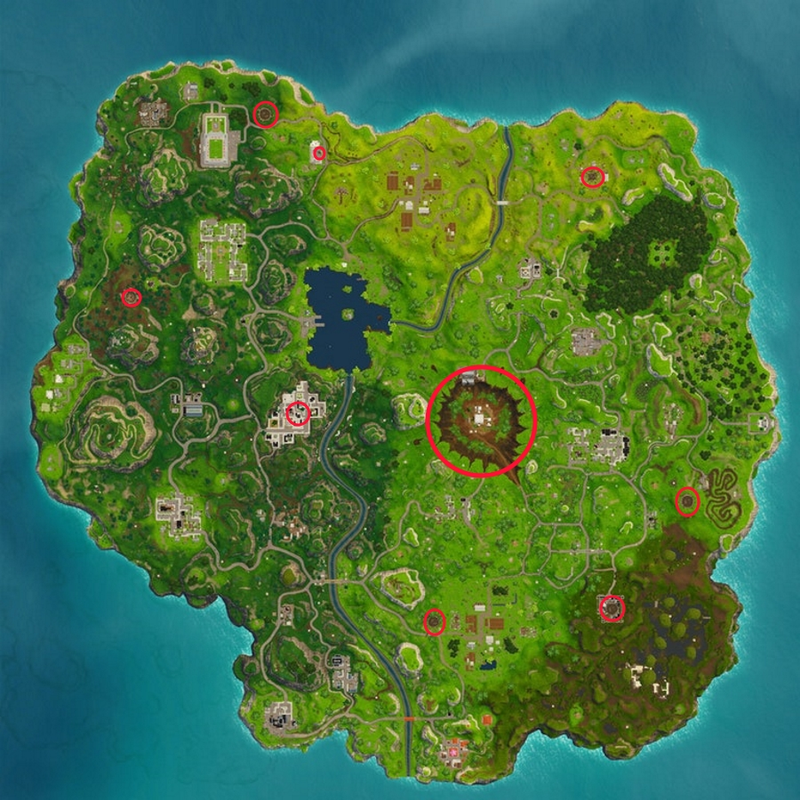 Fortnite Visit Craters In A Single Match Where To Find All Crater