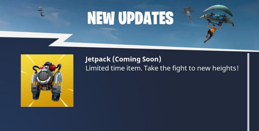 When is the jetpack coming to fortnite