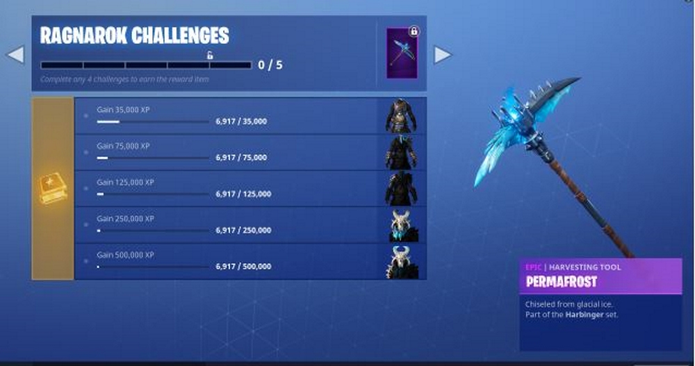 Fortnite Ragnarok Skin Challenges Pickaxe And All Styles Metabomb