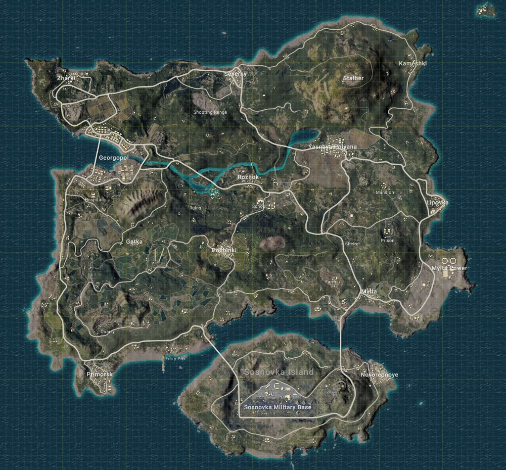 pubg s home to two maps at the moment erangel and miramar there s another one on the way called savage - fortnite vs pubg map