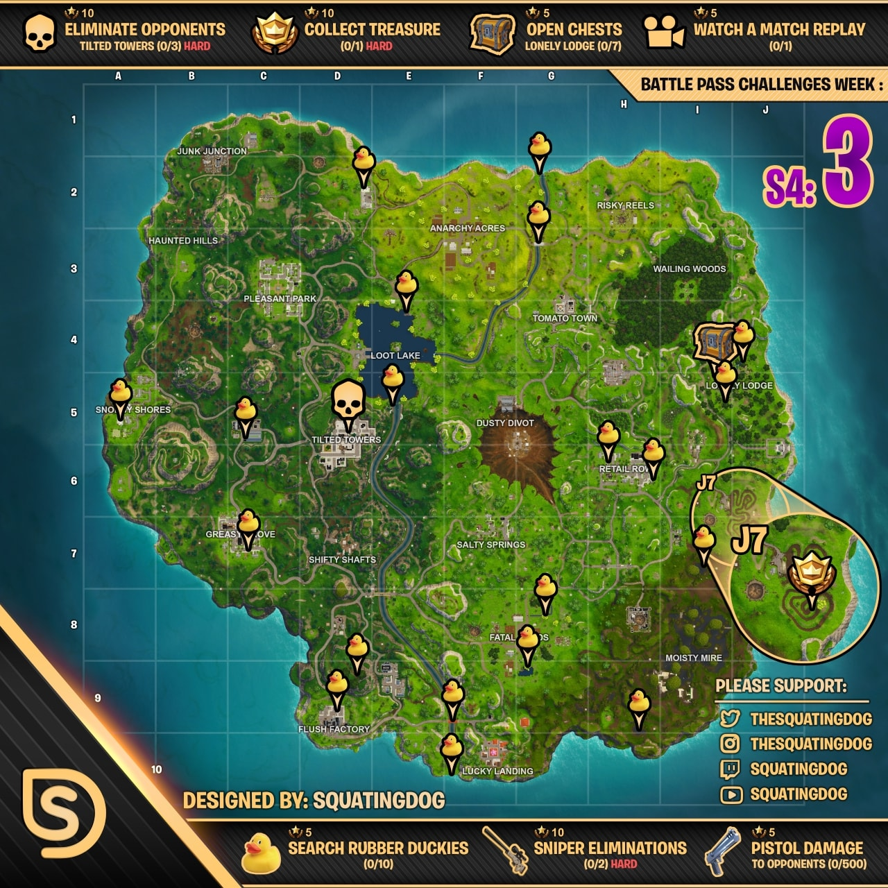 of course huge thanks goes to squatingdog for this resource - fortnite week 9 challenges map reddit