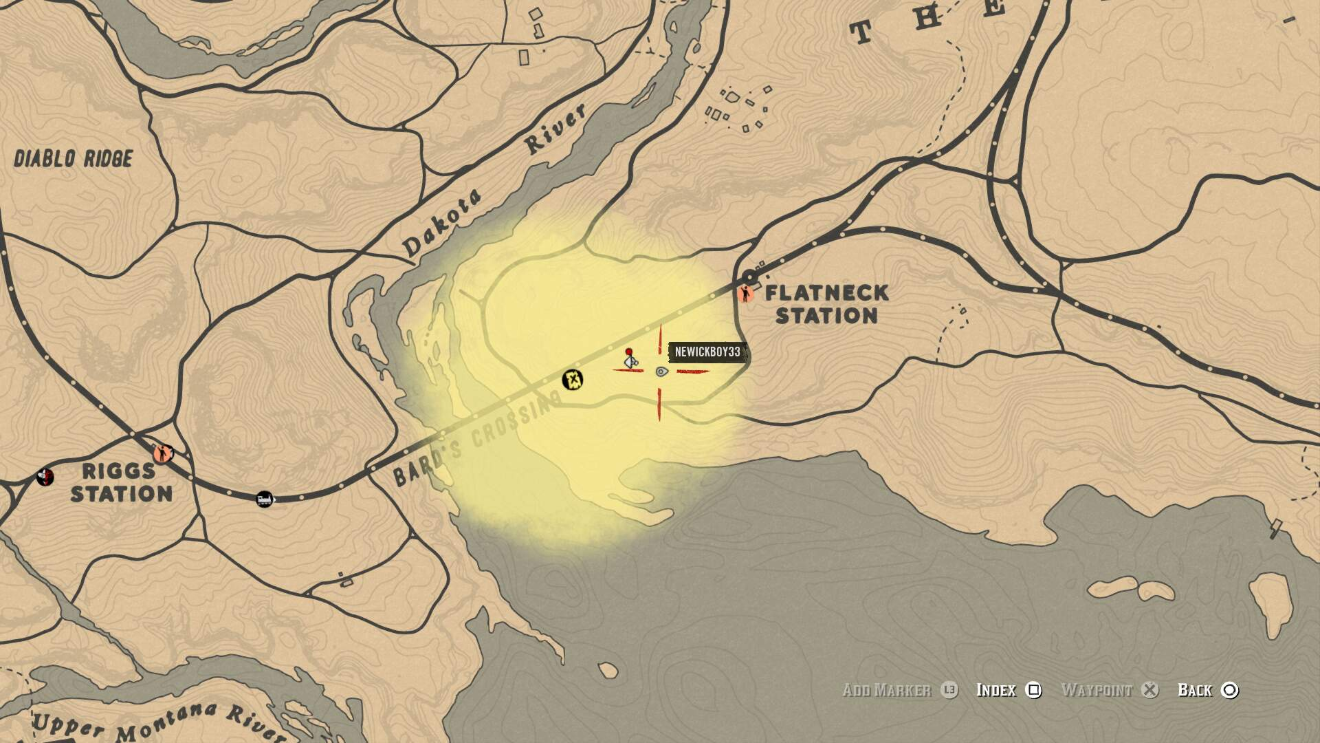 Red Dead Online Bard's Crossing Treasure Locations