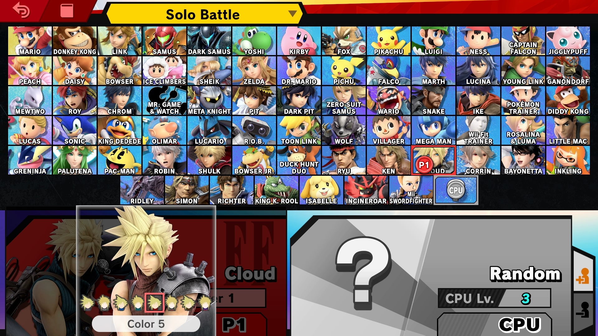 Cloud Super Smash Bros Ultimate Guide - Unlock, Moves, Changes