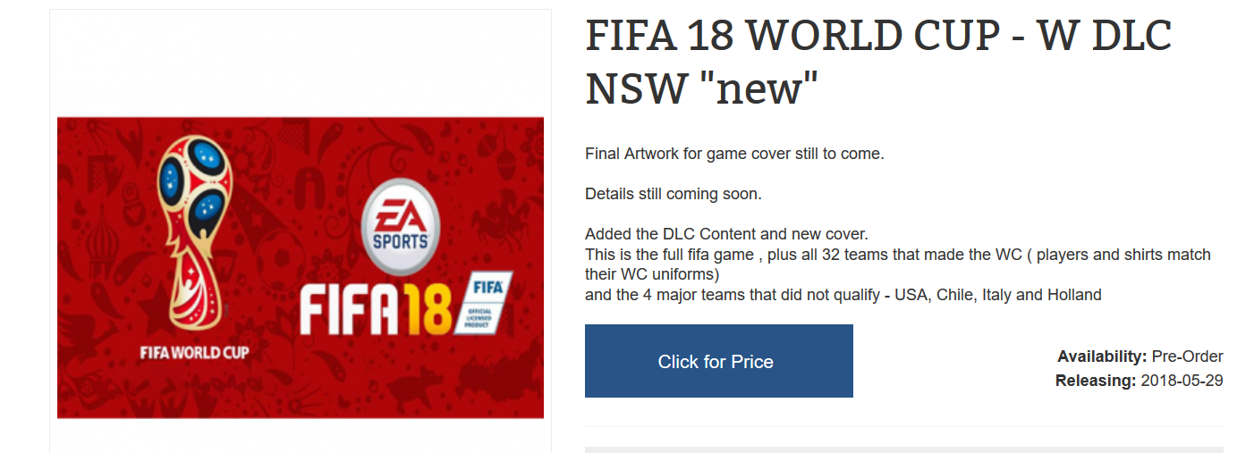 Rumor: FIFA 18 to Get Free World Cup 2018 Content