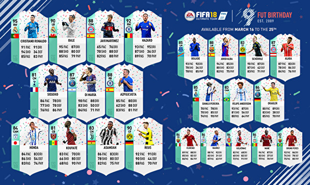 FUT 9th Birthday Celebration - March 16 to March 25 - FUT Birthday Squad